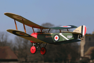Ares Sopwith Pup WWI electric indoor RC aeroplane